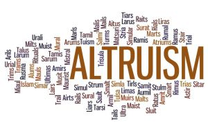 Being altruistic!